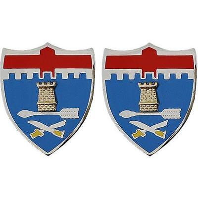 USA ARMY UNIT Crest 48Th Infantry Regiment Dragoons Pair