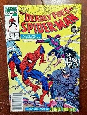 The Deadly Foes of Spider-Man #1, (1991, Marvel): Punishment & Crime!
