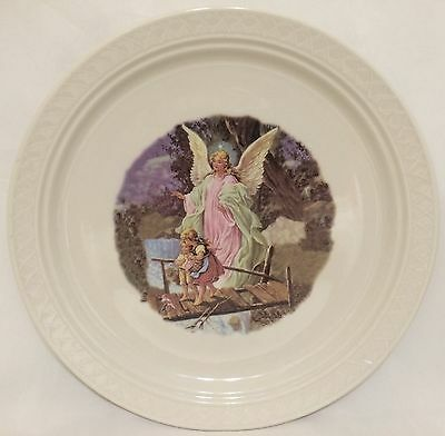 Homer Laughlin Gothic Pattern Guardian Angel Design Plate - Excellent Condition