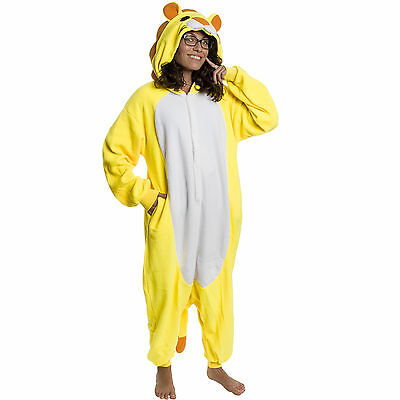 SILVER LILLY Unisex Adult Plush Animal Cosplay Costume Pajamas (Lion)