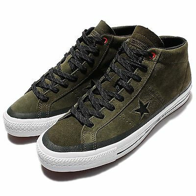 Converse CONS One Star Pro Suede Green Black Mids Mens Causual Shoes 153474C