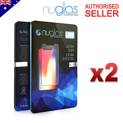 2x GENUINE NUGLAS Tempered Glass Screen Protector For Apple iPhone 7 7 Plus
