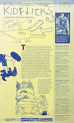 Shelley Duvall 1992 Houston Museum Signed Flyer The Shining Popeye