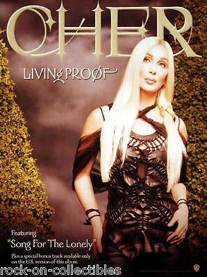 Cher 2002 Living Proof Promo Poster Original