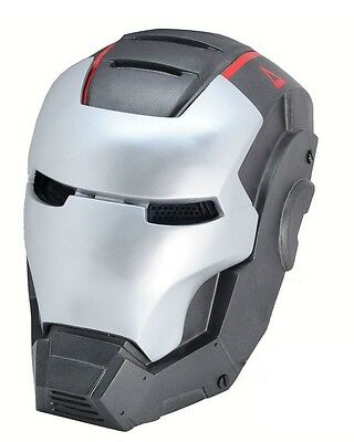 Adult Gray Iron Man Full Face Protection Mask For Paintball Airsoft War Game