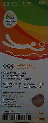 TICKET 12.8.2016 Olympia Rio Beachvolleyball # B80