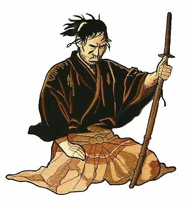 embroidered badge dorsal Patch back transfer SAMURAI Big size big Patch