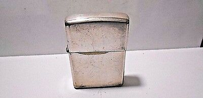 Rare Retro Zippo 1997 C-Xiii Silver Plated Cigarette Lighter