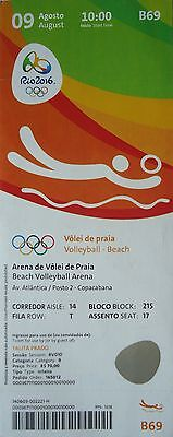 TICKET 9.8.2016 Olympia Rio Beachvolleyball # B69