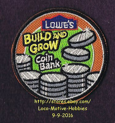 LMH PATCH Badge  2010 COIN BANK Savings Change Coin LOWES Build Grow Kids Clinic