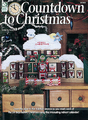 Countdown to Christmas Advent Calendar plastic canvas patterns OOP new rare