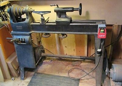 Antique Greenfield Tap & Die Wood Lathe - 1917 Model - Runs Great