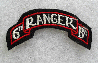"Wwii Orig ""6Th Ranger Bn"" Scroll Unit Is Only Ranger Bn Serving In Pacific"