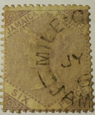 Jamaica   Scott #5  Cat Value  At  $28.00  Used  ...worldwide Stamps