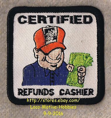 LMH PATCH Badge HOME DEPOT Award CERTIFIED REFUNDS CASHIER Refund Exchange Sales