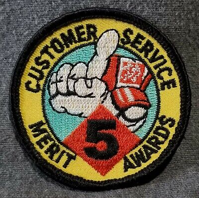 LMH PATCH Badge  HOME DEPOT  Customer Service MERIT AWARD 5 Awards white 2-1/2""