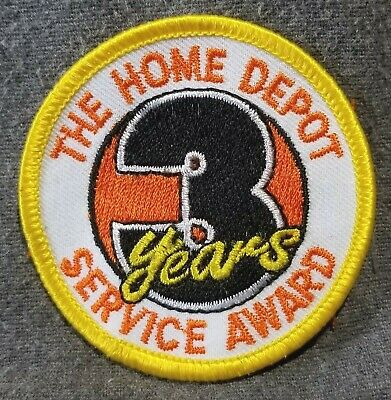 LMH PATCH Badge  HOME DEPOT Customer Merit  3 YEARS SERVICE AWARD Year  2-1/2""