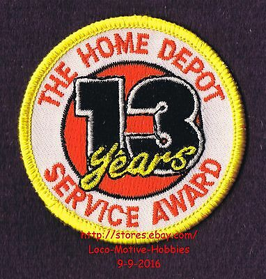 LMH PATCH Badge  HOME DEPOT Customer Merit  13 YEARS SERVICE AWARD Year  2-1/2""