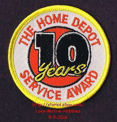 LMH PATCH Badge  HOME DEPOT Customer Merit  10 YEARS SERVICE AWARD Year  2-1/2""