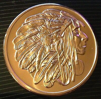 1 Oz Copper Round American Indian Series - Medallion Chief