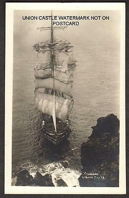Real Photo Postcard Sailing Ship Rigged Cromdale Wreck Lizard Cornwall 1913