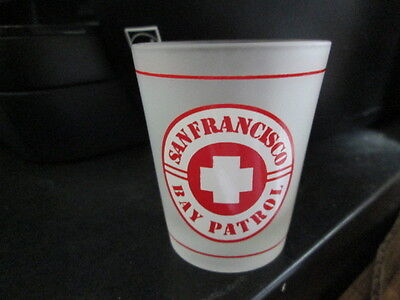 San Francisco Bay Patrol Frosted Shot Glass Rare Vintage