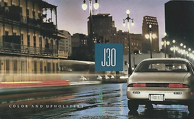 Auto Brochure - Infiniti - J30 - Color Upholstery - c1992 (A1036)