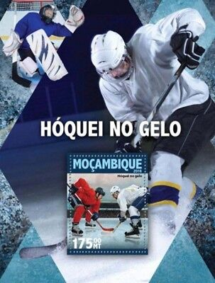 Mozambique - 2016 Ice Hockey - Stamp Souvenir Sheet - MOZ16124b