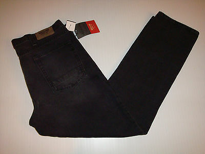 MOSSIMO SUPPLY Co. Straight Low Rise Charcoal JEANS Men 36X30 NEW