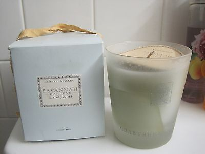 CRABTREE /& EVELYN For MEN NOMAD SCENTED CANDLE~NEW IN BOX 25hr  GLASS HOLDER HTF