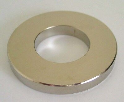 "2 Neodymium (N48) NdFeb Ring 2""OD.x1""ID.x1/4""T Magnets"