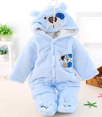 Romper Newborn Girl Boy Cartoon Jumpsuit Clothes Baby Winter Cotton Outfit 0-12M