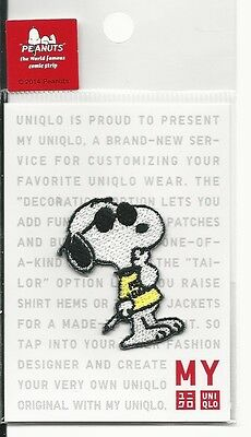 UNIQLO Peanuts Snoopy Iron On Patch Joe Cool