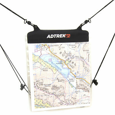 Adtrek Waterproof Hiking/Walking Clear PVC Transparent Map Case Holder