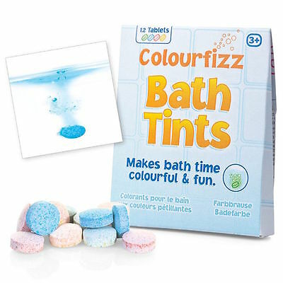 New Colourfizz Fizzy Colour Changing Bath Tints 12 36 Or 72 Tablets Tobar 19463