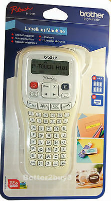 Brother P-Touch Label Maker Labelling Printer System + Tape + Batteries H101C