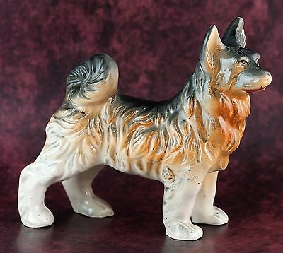 Vintage Ceramic 3.5 Inch Keeshond Figurine Gloss Finish Made In Japan