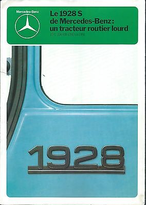 Truck Brochure - Mercedes-Benz - 1928S - c1980 - FRENCH language (T1704)