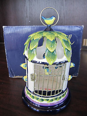Icing On The Cake WISTERIA BIRD CAGE Tealight J.M. McCall NEW In BOX BJM3011817