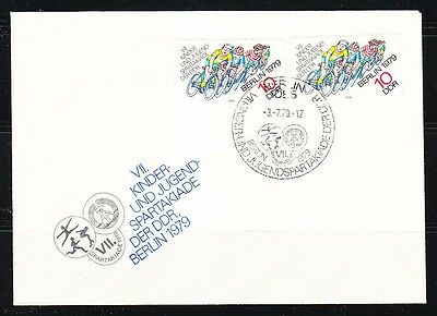 Germany DDR 1979 FDC cover Mi 2433 Bicyclists
