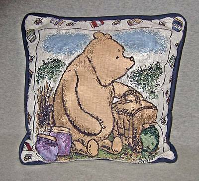 """Classic Pooh tapestry pillow~Goodwin Weavers~11""""x11""""~NWT"""