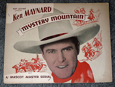 MYSTERY MOUNTAIN original 1934 movie poster KEN MAYNARD