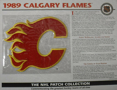 1989 Calgary Flames Willabee & Ward Official Nhl Hockey Patch