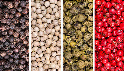 MIXED PEPPERCORN SEEDS - Grow Your Own - 4 COLOURS - NON GMO SEED - 400 Seeds