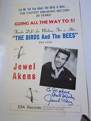 JEWEL AKENS  poster  AUTOGRAPHED