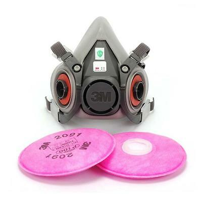 For 3M 6200 6001 Spray Paint/Dust Face Half Mask respirator+3M 2091 P100 Filters