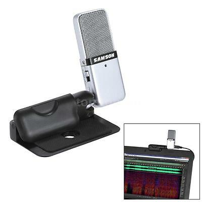 Samson GO Mic Mini Portable Recording Condenser Microphone with USB Cable D6R0