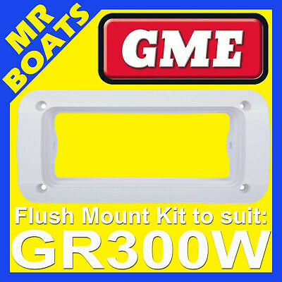 GME MK008W - WHITE Flush Mount Kit - Suits GR300W Stereo Radio GR300 FREE POST