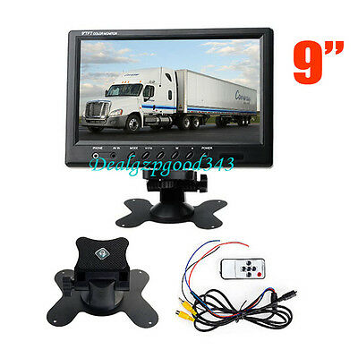 "12V-24V 9"" TFT LCD Car Rear View Screen Monitor For Reversing Camera DVD VCD UK"