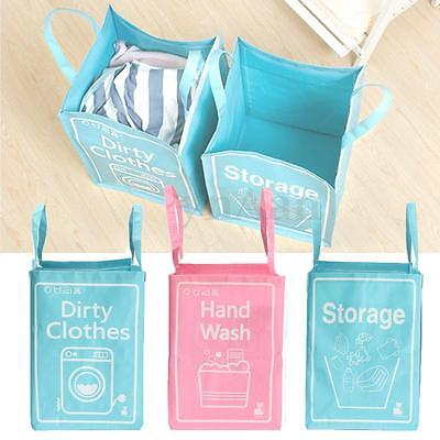Foldable Washing Clothes Laundry Basket Woven Bag Toy Hamper Sotrage Bin Box NEW